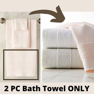 NWT Kassatex Maison [ 2 ] Bath Towels Powder Pink